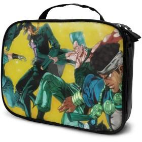 ジョジョの奇妙な冒険 化粧品バッグ高品質大容量収納バッグ防水バッグ出張海外旅行バッグは日常使いに便利です。