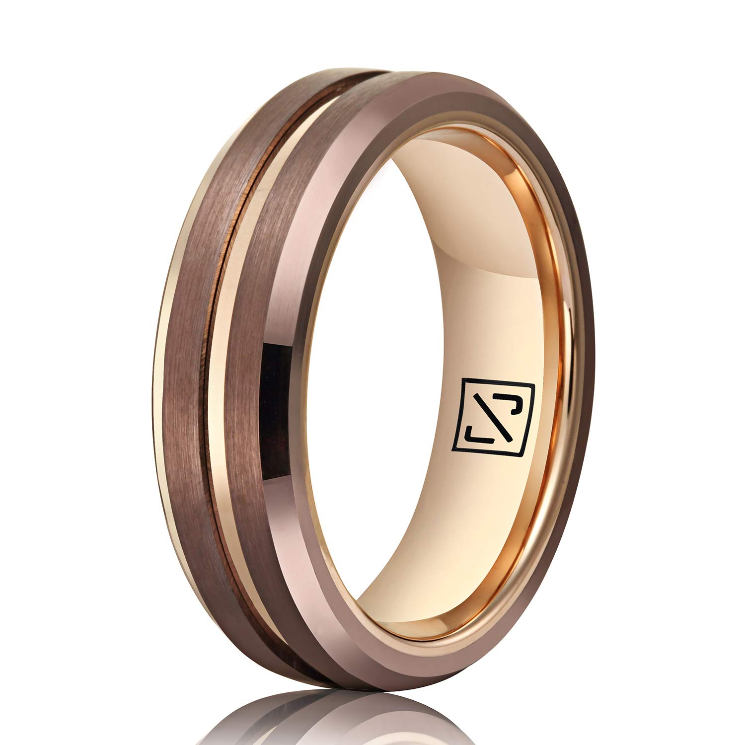 Stainless Steel Matte Finished Lucky Lizard Flat Band Ring