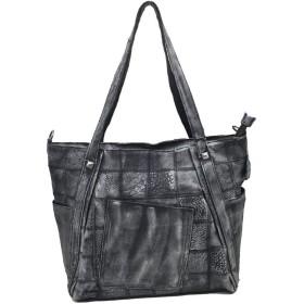 QTMIAO-Bags レディースハンドバッグ、女性の手ブラッシングハンドバッグレトロショルダーバッグステッチレザーメッセンジャーバッグ (Color : 03, Size : 37x35x16cm)
