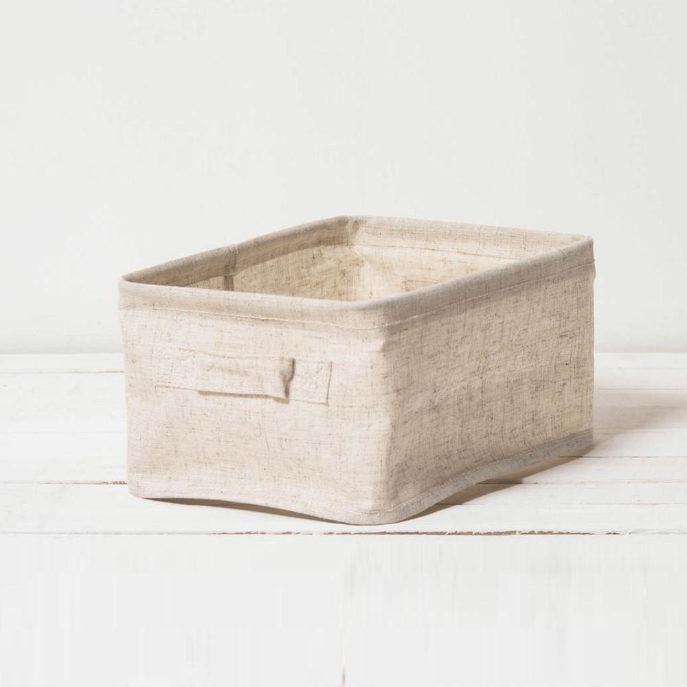 真心良品森活棉麻收納盒(小)