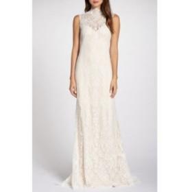 タダシショージ TADASHI SHOJI レディース パーティードレス ウェディングドレス ワンピース・ドレス Back Detail Lace Wedding Dress Iv