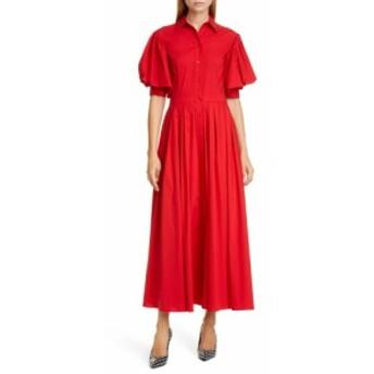 マイケル コース MICHAEL KORS レディース ワンピース シャツワンピース ワンピース・ドレス Puff Sleeve Shirtdress Crimson