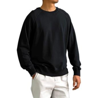 EASYDWELL トレーナー メンズ 無地 レディース クルーネック スウェットシャツ パーカー 裏パイル 大きいサイズ