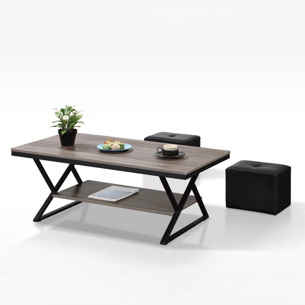 munatb011型4尺鐵架茶几(共三色)(含小椅x2)