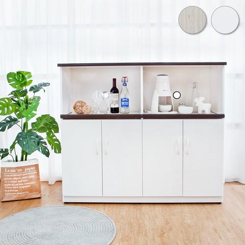 Boden-4.3尺四門二拉盤防水塑鋼電器櫃/收納餐櫃(兩色可選)