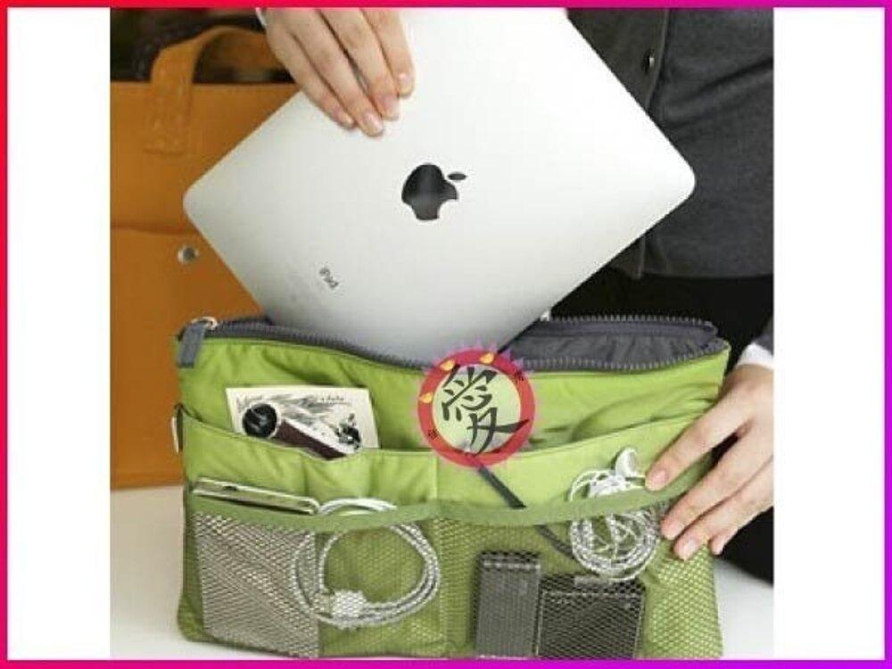 【Love Shop】韓國BAG IN BAG 平板電腦 擴充機能加大加厚手提收納包 包中包 袋中袋雙拉鍊