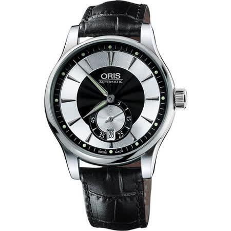 ORIS Artelier 小秒針經典機械腕錶-黑 0162375824054-0752171FC