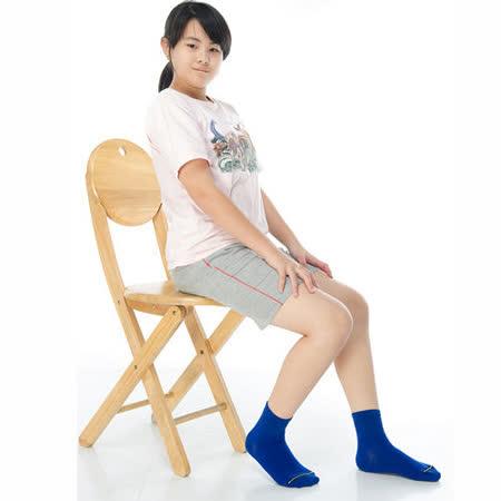 【KEROPPA】可諾帕6~9歲學童專用吸濕排汗短襪x3雙(男女適用)C93007-A寶藍