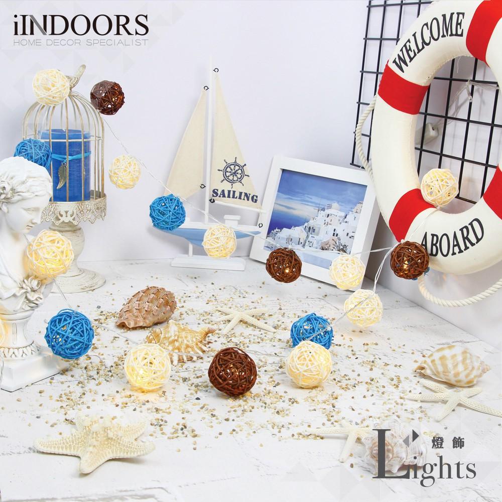 英倫家居 創意籐球燈飾燈串 左岸咖啡 插座款 LED氣氛燈 聖誕節交換禮物 情人節 浪漫婚禮 生日派對 似棉球燈