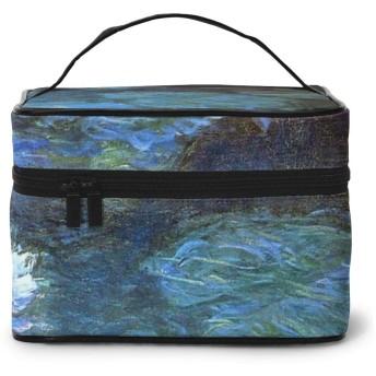 化粧ポーチ 睡蓮 化粧品バッグ 防水 多機能 大容量 持ち運び便利 旅行する
