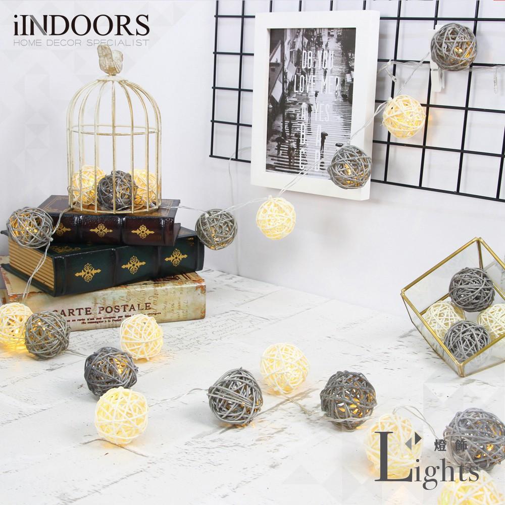 英倫家居 創意籐球燈飾燈串 月光鑽石 插座款 LED氣氛燈 聖誕節交換禮物 情人節 浪漫婚禮 生日派對 似棉球燈