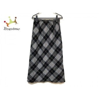 レリアン Leilian スカート サイズ11 M レディース 美品 黒×グレー×ブラウン チェック柄  値下げ 20200229