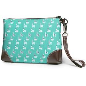 財布 ファンシーラマ レザークラッチ ボックス 軽量 防水 出張や旅行にを使用できます。