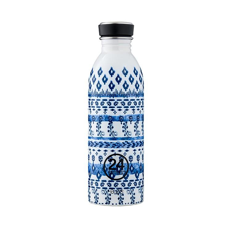 義大利 24Bottles 城市水瓶 500ml - 藍與白