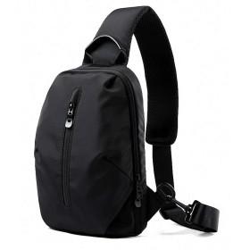 SENFIUT ショルダーバッグ メンズ 斜めがけ 大容量 ボディバッグ 防水 USB充電ポート 軽い 通勤 通学 運動 撥水加工 黒 (ブラック -B)