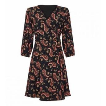 ユミ Yumi レディース ワンピース ラップドレス ワンピース・ドレス Paisley Tie Wrap Dress Black