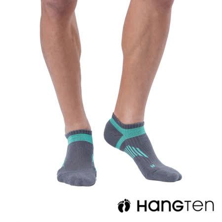 【HANG TEN】船型氣墊機能襪3雙入組(男)_藍綠(HT-A23001)
