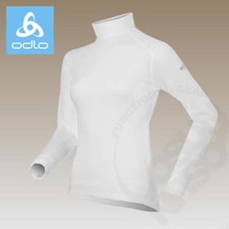 【瑞士 ODLO】warm effect 女高領機能型銀離子保暖上衣.衛生衣_白 152011