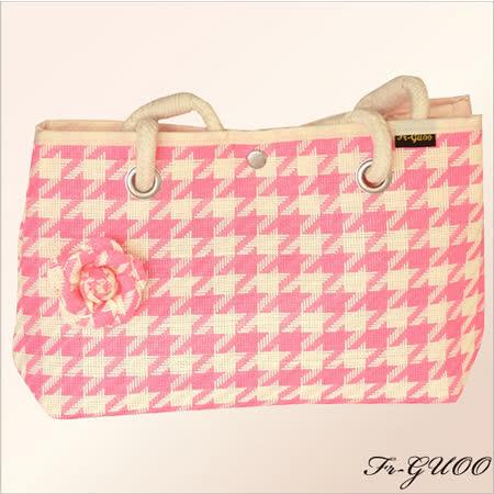 《法果》輕時尚系列 – FRB505 編織菱格包(清新粉紅)