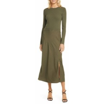 テッドベーカー TED BAKER LONDON レディース ワンピース ミドル丈 ワンピース・ドレス Joowani Long Sleeve Midi Dress Khaki