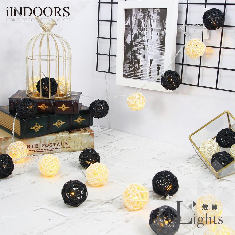 英倫家居 創意籐球燈飾燈串 黑暗武士 插座款 LED氣氛燈 聖誕節交換禮物 情人節 浪漫婚禮 生日派對 似棉球燈
