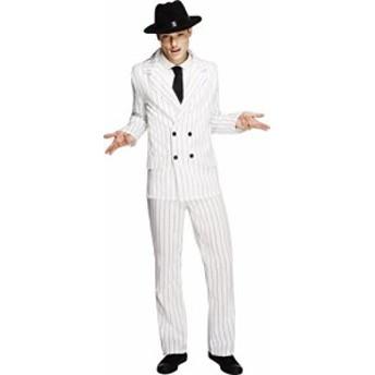 【Smiffys Mens White Fever Gangster Costume - Chest 34-36】     b0096p08a2