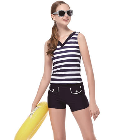 【SARBIS】泡湯SPA大女二截式泳裝附泳帽B92602