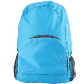 uxcell ナイロン 屋外旅行 防水折り畳み式 荷物服収納袋 バックパック 青い