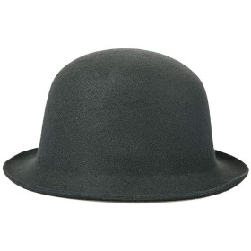 帽子 クラシックソリッドカラーのウールは女性のフェルトハットドーム教会党カジュアルヴィンテージフェルト (色 : ブラック)
