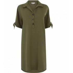 ウェアハウス Warehouse レディース ワンピース シャツワンピース ワンピース・ドレス Oversized Mini Shirt Dress Khaki