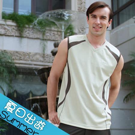 【瑞多仕-RATOPS】男款 V領背心. 吸溼排汗纖維. 抗UV.透氣、抗菌、快乾#8368 A