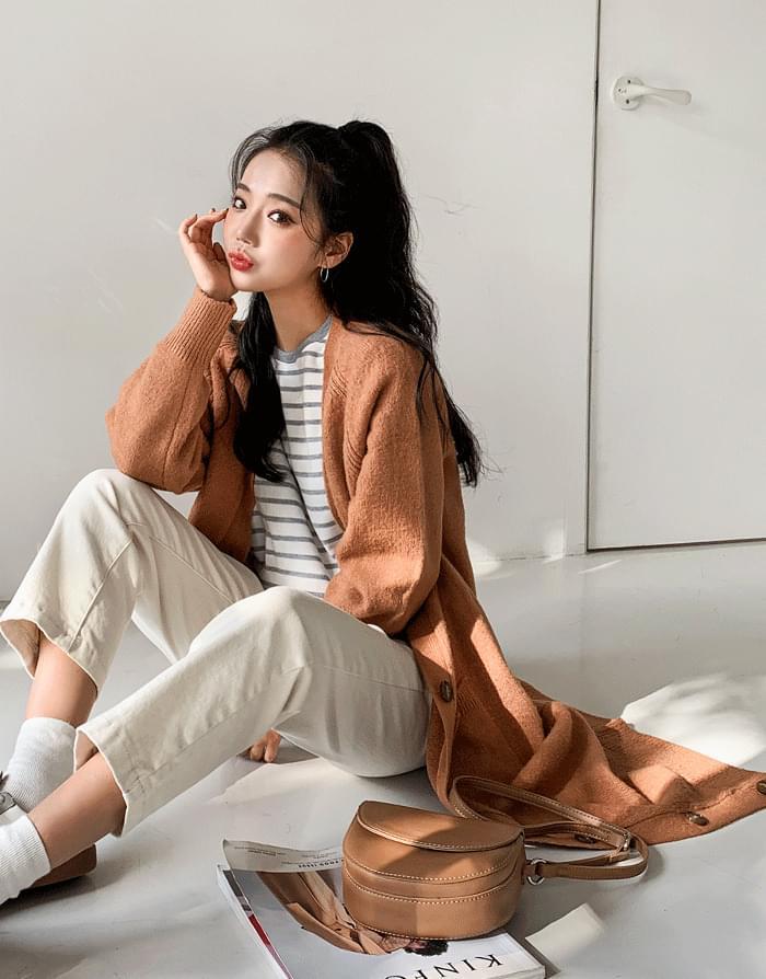 韓國空運 - Soul button long cardigan 針織外套
