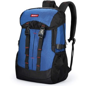 BEMIXC リュックサック メンズ YKKファスナー採用 防水素材 登山リュック 旅行 通勤 ビジネスリュック 遠足 高校生 通学リュック 40L (ネイビー)