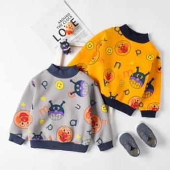 子供服のカシミヤの服2019秋冬の新型の男女の子供に厚い漫画の長袖の衣のカバーの頭のシャツは卸売りします