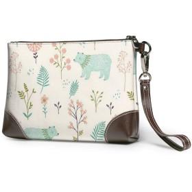 財布 ベアパーク レザークラッチ ボックス 軽量 防水 出張や旅行にを使用できます。