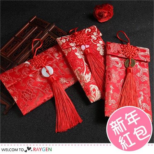 中國風喜氣繡花布藝紅包袋 禮金袋