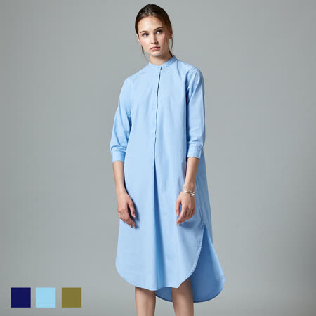 Sky Yard 女裝-七分袖襯衫領洋裝