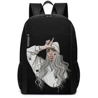 Billie Eilish ビリーエイリシュ リュックバック リュックナップザック バッグ ノートパソコン用のバッグ 大容量 バックパックチ キャンパス バックパック 大人のバックパック 旅行 ハイキングナップザック