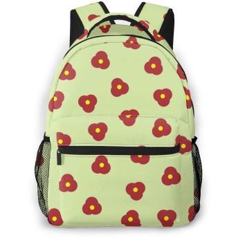 小さな花のカジュアルなバックパック学校旅行旅行の仕事のためのカジュアルなデイパック