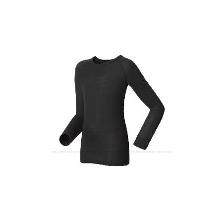 【瑞士 ODLO】】effect 兒童.女圓領頂極機能型銀離子保暖內衣.兒童衛生衣.兒童保暖衣/10459 黑