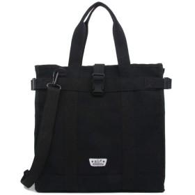 QTMIAO-Bags レディースカジュアルキャンバスバッグハンドバッグファッションショルダーメッセンジャーバッグ、ハンドバッグ (Color : Black, Size : 351334cm)