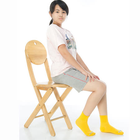 【KEROPPA】可諾帕7~12歲學童專用吸濕排汗短襪x3雙C93007-B金黃
