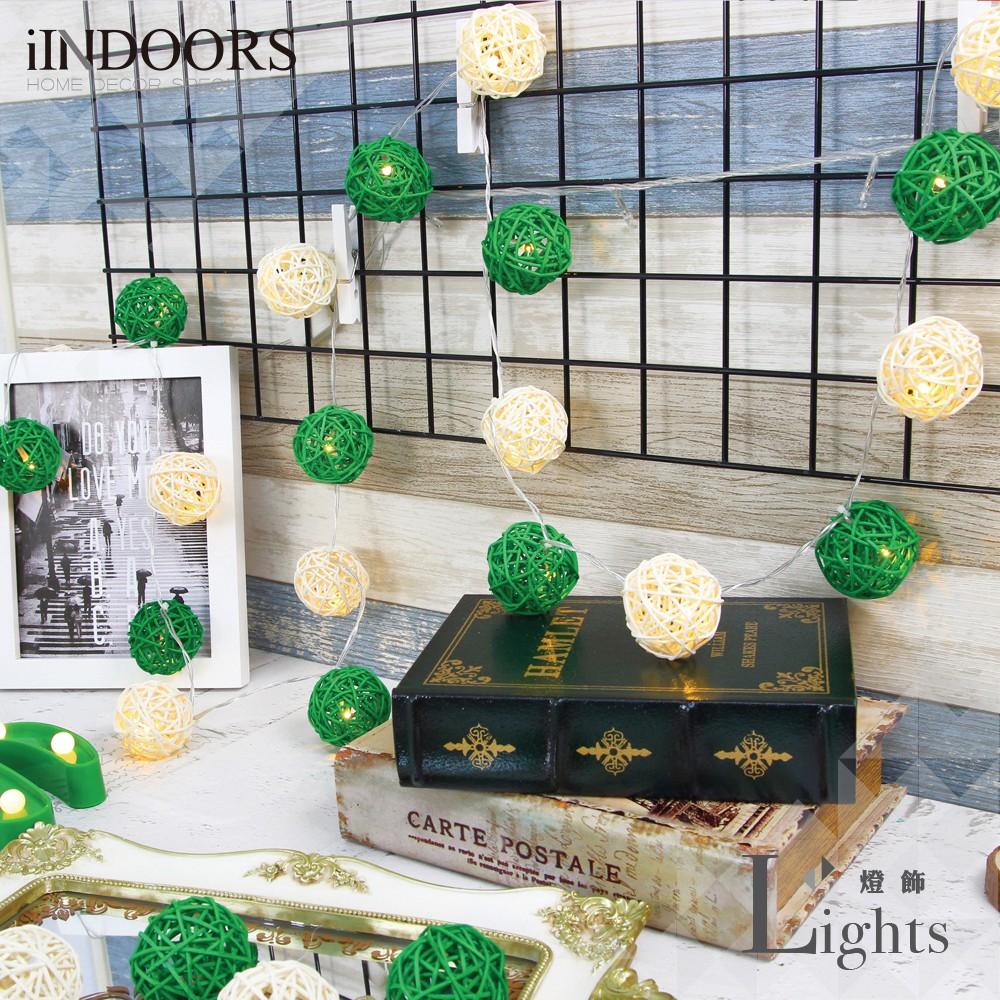 英倫家居 創意籐球燈飾燈串 小鹿森林 插座款 LED氣氛燈 聖誕節交換禮物 情人節 浪漫婚禮 生日派對 似棉球燈