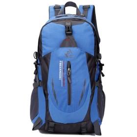 登山用バックパック 40Lバックパック耐久性に優れた軽量防水旅行ハイキングのバックパック超軽量バッグユニセックスアウトドアスポーツ どんなアウトドアスポーツにも適しています (Color : Blue, Size : 40L)