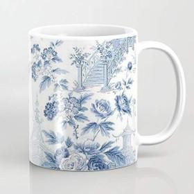 簡素な雑貨屋 パウダーブルーシノワズリートワル マグカップ コーヒーカップ ミルクカップ 家庭用・オフィス・来客招待に適応 カップル ギフト