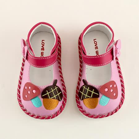 【愛的世界】LOVEWORLD 蘑菇寶寶鞋/學步鞋/13~15CM-台灣製-