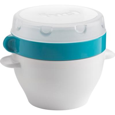防漏密封安心使用 午餐盒環保便當盒 粥湯稀飯點心甜品 開蓋後可微波加熱 雙層設計乾溼分離