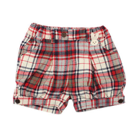 【愛的世界】pappa&ciccia 時尚名媛系列純棉經典法蘭絨短褲/2~6歲-中國製-