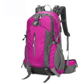 アウトドア登山バッグハイキングバックパック多機能旅行バックパック大容量バックパック CQQO (Color : Pink)