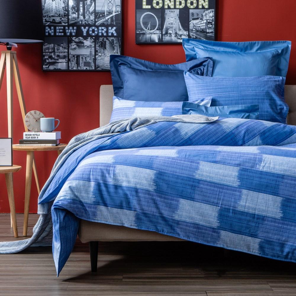 HOLA 藍儂純棉磨毛床包兩用被組 加大
